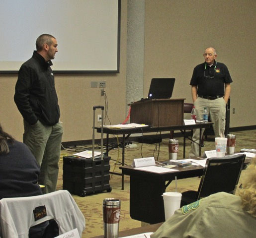 Jim Funk (right) in Prevention Team Member training in Georgia